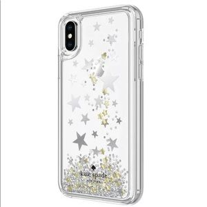 Kate Spade Falling Liquid Stars iPhone X XS case
